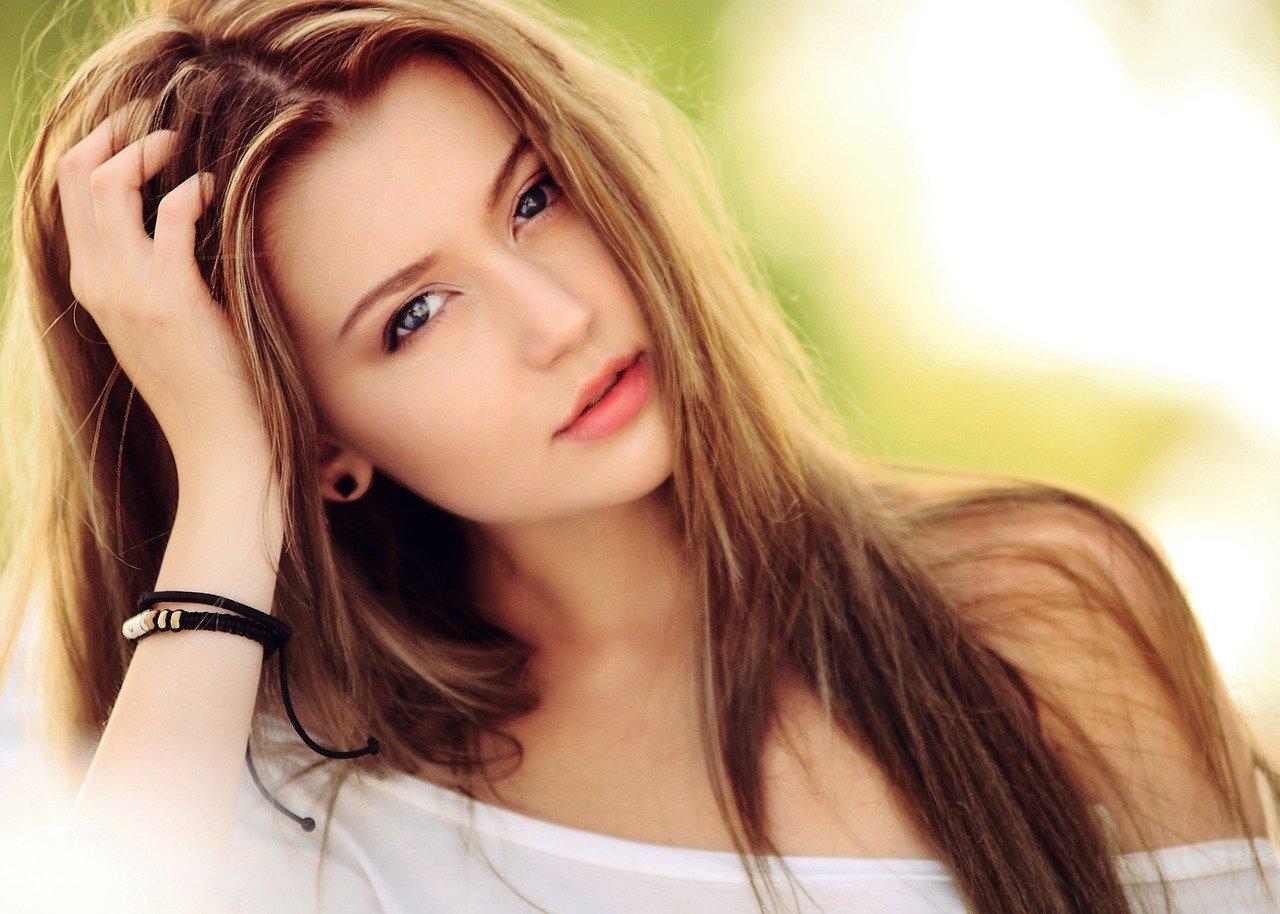 beautiful Polish Girl with long hair