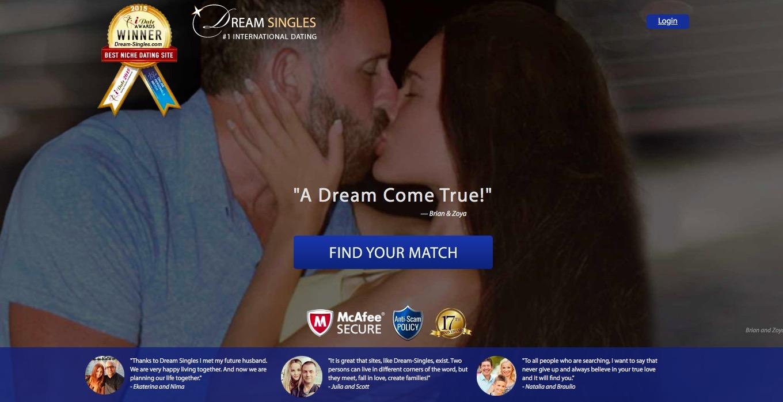 DreamSingles main page