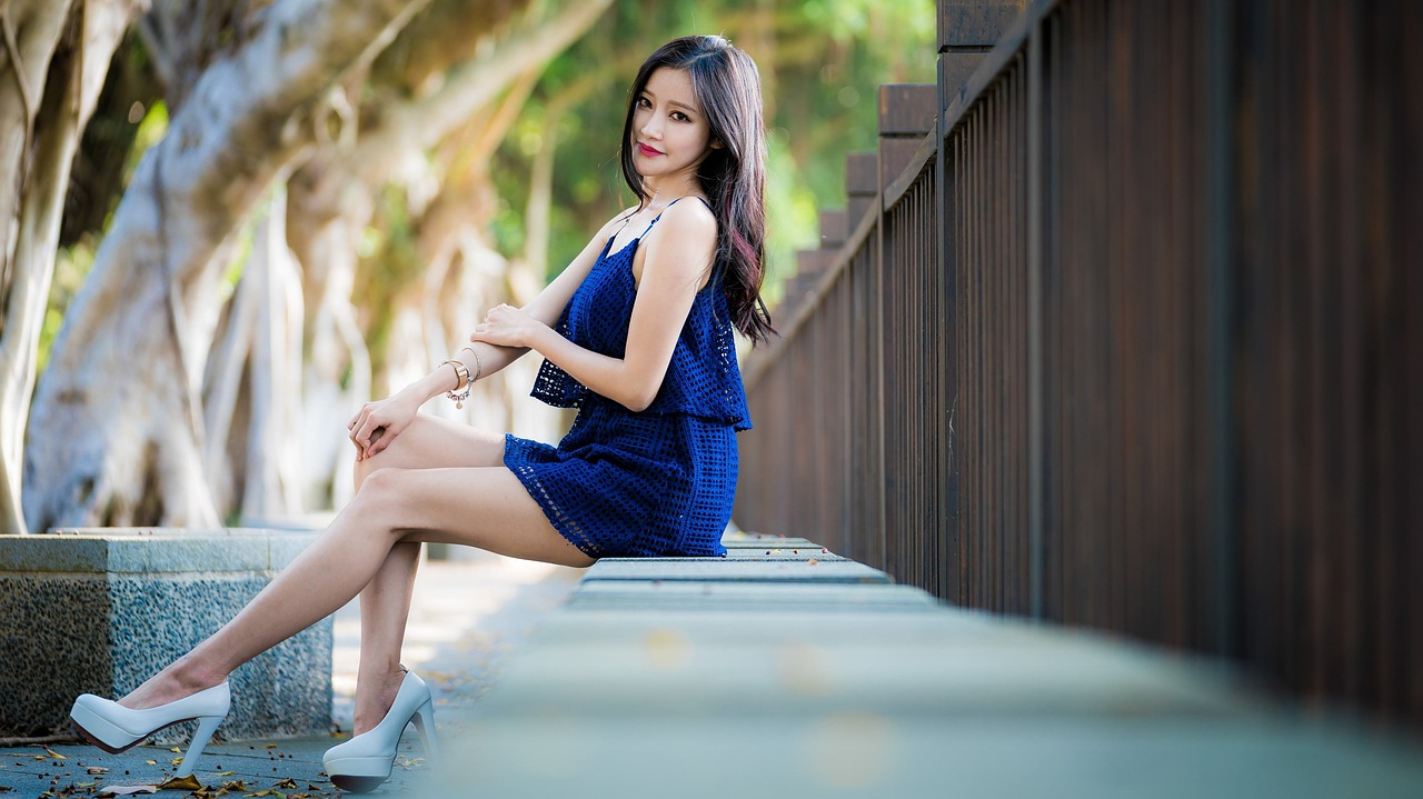 Thailand girl with long legs
