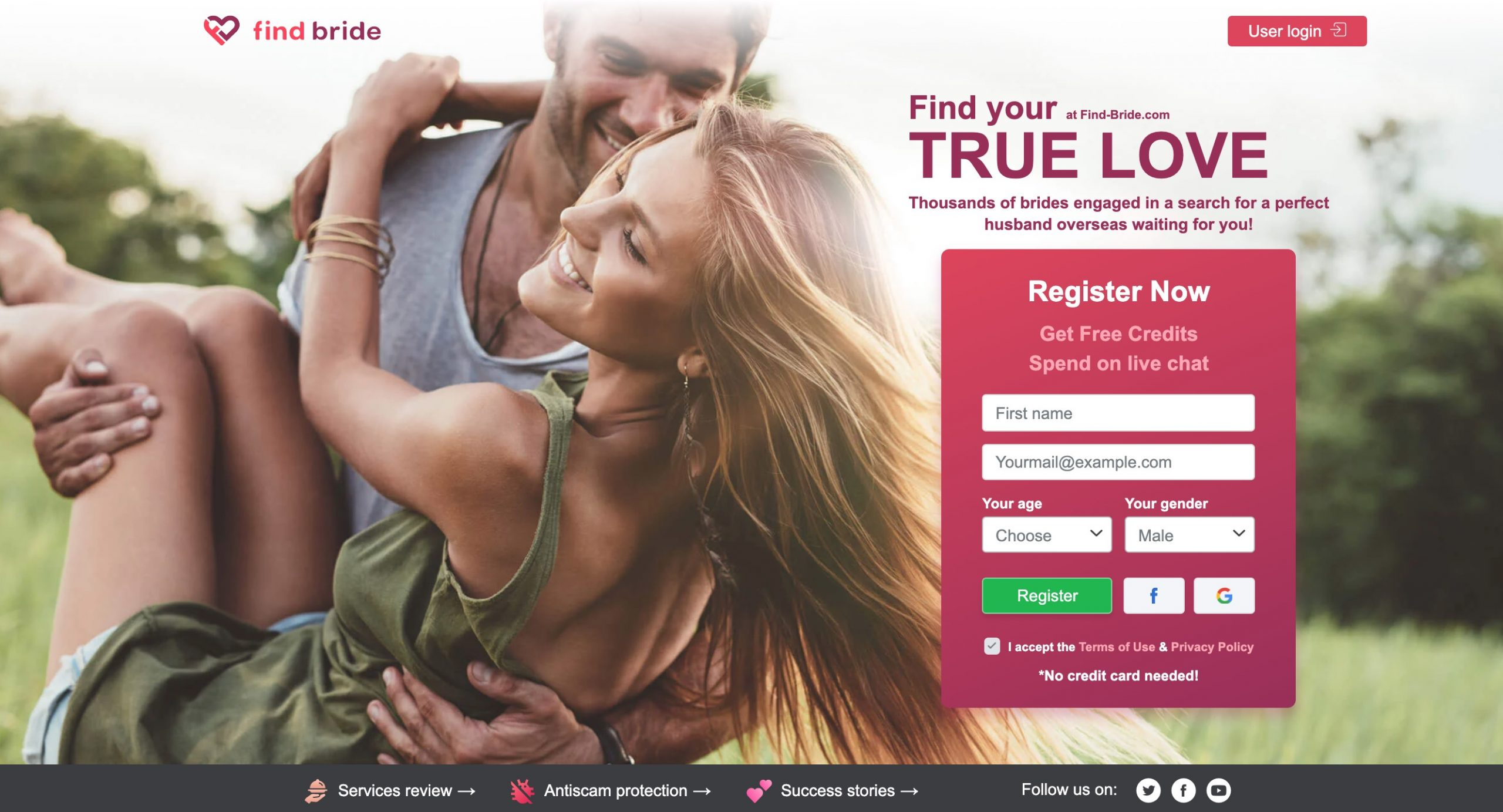 Find-Bride main page