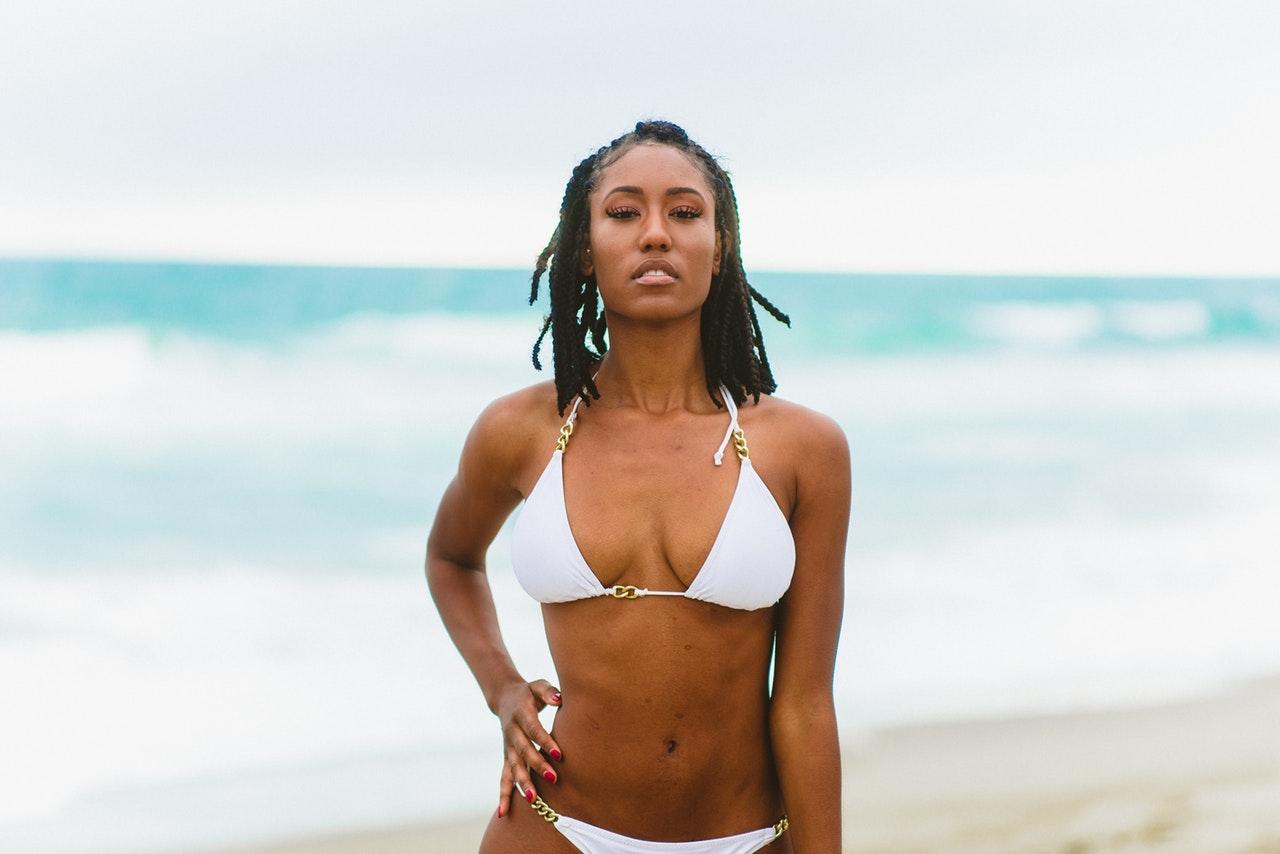 Haitian girl in beach bikini